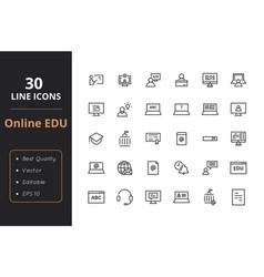 30 education line icon vector image vector image