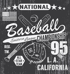 Baseball sport typography eastern league los vector