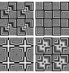Seamless op art patterns vector