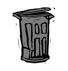A wastebasket vector