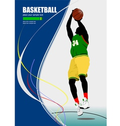 al 0640 basketball poster 01 vector image vector image