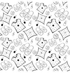 Black white pajama movie night party vector