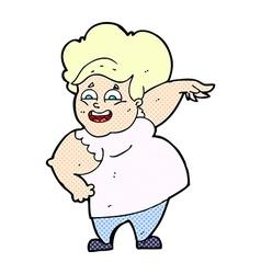 comic cartoon oveweight woman vector image vector image