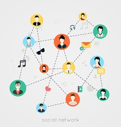 Concept for social network vector image