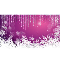 dark christmas background with snowflakes and vector image vector image