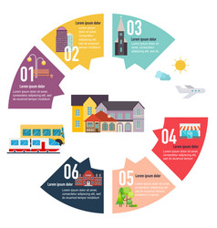 different places to live houses infographic flat vector image vector image
