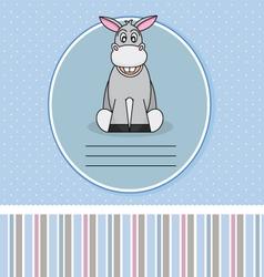 Donkey card vector image vector image