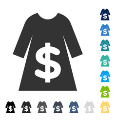 Dress sale icon vector