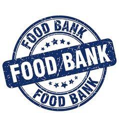 food bank blue grunge round vintage rubber stamp vector image