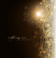 Gold elegant background with text space vector