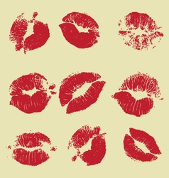 lipstick marks vector image