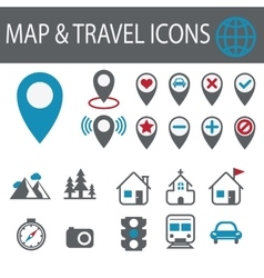 Location and destination icons vector image