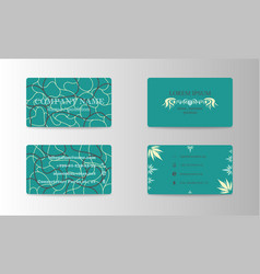 Modern creative and trending business card design vector