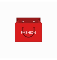 Modern shopping fashion icon on white vector