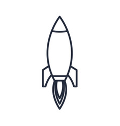 Outlined rocket startup business success icon vector