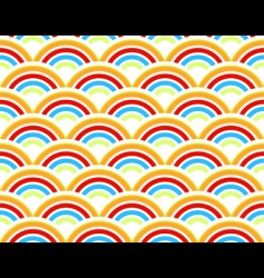 rainbows seamless pattern vector image vector image