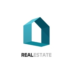 Real estate logo 3d abstract geometric vector image vector image