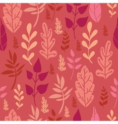 Red Leaves Seamless Pattern Background vector image vector image