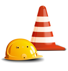 Road cone and helm vector