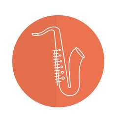 Saxophone musical instrument icon vector