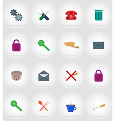 Service flat icons 17 vector