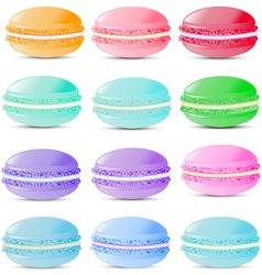 Set of sweets biscuits macaroon vector image vector image
