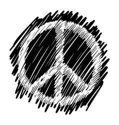 sketch doodles of peace symbol vector image