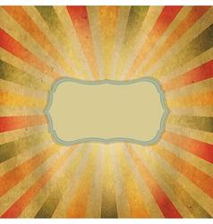 Square shaped sunburst vector
