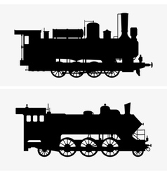 Steam locomotives vector image vector image
