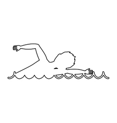 Swimming competition sport icon vector