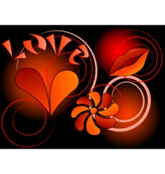 symbol of love vector image vector image