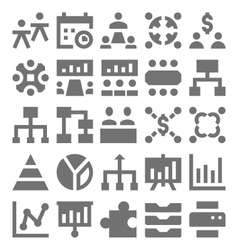 Teamwork organization icons 2 vector