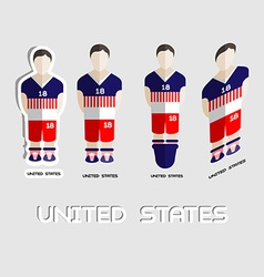 United states soccer team sportswear template vector