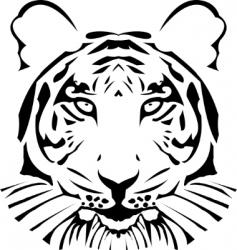 vector abstract tiger head vector image vector image