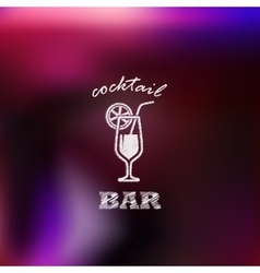 Vintage with cocktail bar sign vector