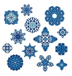 Winter Pattern Elegant floral abstract elements vector image vector image