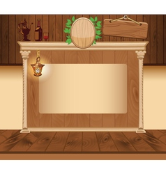 Wooden vintage background for web template vector image vector image