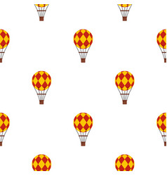 Yellow and red hot air balloon pattern seamless vector