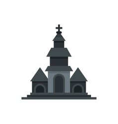 Church icon flat style vector
