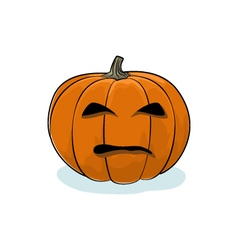 Halloween evil pumpkin vector