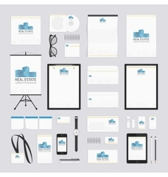 Real estate corporate style template vector