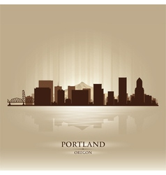 Portland oregon skyline city silhouette vector