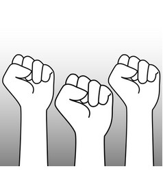 Outline fists vector