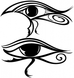 Egyptian eye ra vector