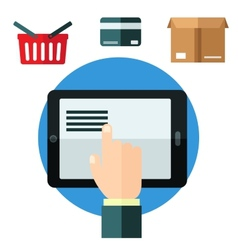 Online shopping or e-commerce concept vector