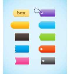Colorful labels price tags vector