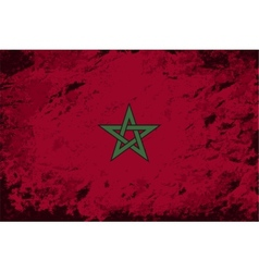 Moroccan flag grunge background vector