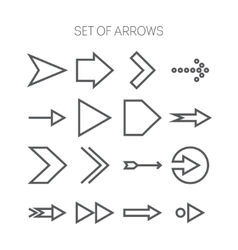 Set of simple monochromatis icons with arrows vector