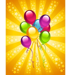 Party birthday balloons vector
