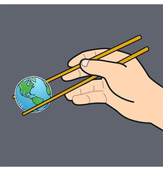 World chopsticks design vector